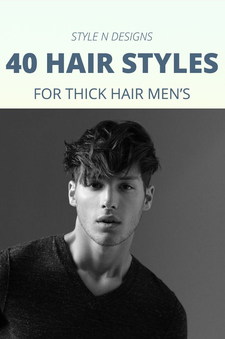 awesome 40 Hairstyles for Thick Hair Men's - Stylendesigns.com!