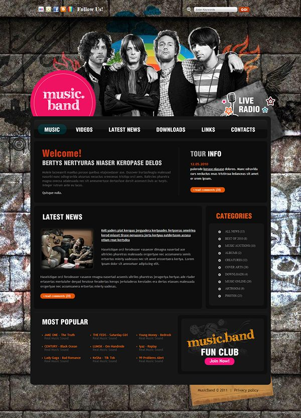 7 best Music images on Pinterest | Template, Design websites and ...