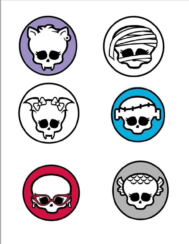 Assorted Monster High Skullette template