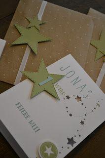 Me U0026 Art: Einladungen Zum 1. Geburtstag   Sterne
