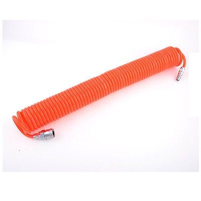 21.08$  Buy here - http://aliuel.shopchina.info/go.php?t=32765330825 - 12M 39 Ft 8mm x 5mm Polyurethane PU Recoil Air Compressor Hose Tube Orange Red Free shipping  #buyininternet