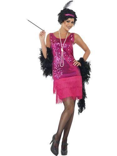 Naamiaisasu; 20-luvun Tanssityttö pinkki  20-luvun tanssitytön asu, ihanan pinkki… #naamiaismaailma