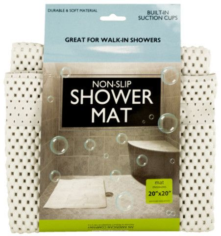 non-slip shower mat with suction cups Case of 6