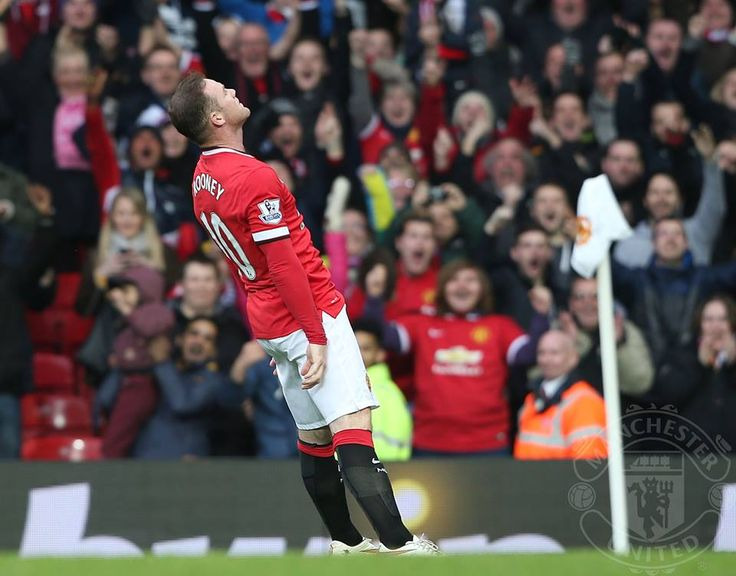 Wayne Rooney with the KO to Tottenham in 3-0 win at Old Trafford.