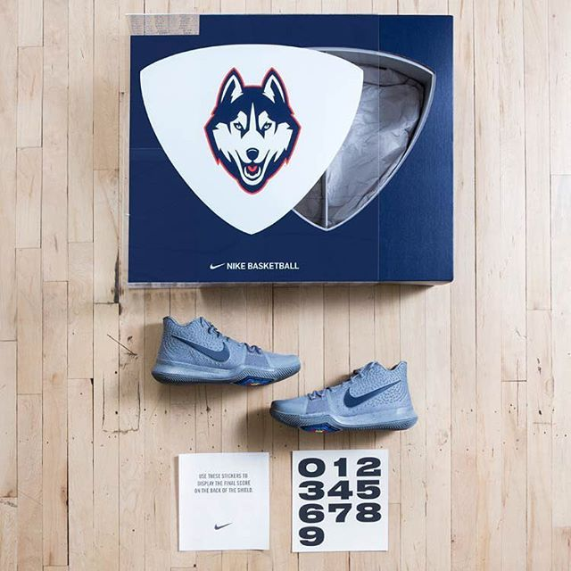 Congratulations to the UConn Women's Basketball Team for setting an NCAA Basketball record with 91 consecutive wins...and counting. Nike and Kyrie Irving hooked up the entire squad with this special edition package. For a closer look, tap the link in our bio. #kicks #kicksoftheday #sneakerfiend