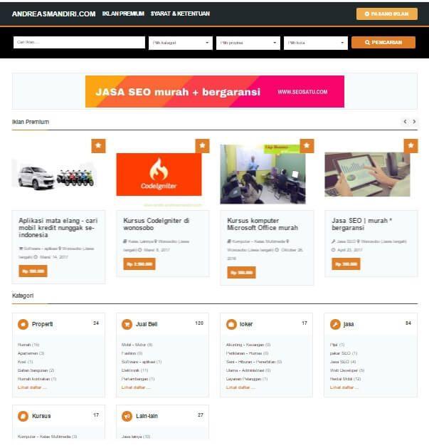 website | aplikasi pasang iklan gratis tanpa daftar dan iklan aktif selamanya, iklan anda akan tayang pada halaman 1 google, penasaran - ayo coba sekarang !
