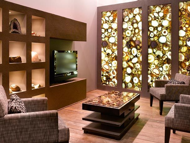 Backlit Translucent Semi Precious Gemstone Wall Great Design Ideas We Love At