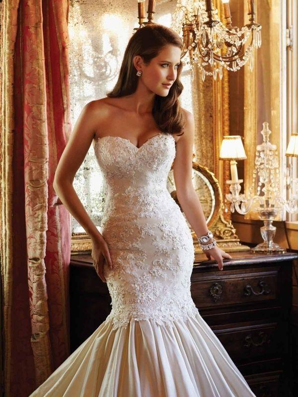 Large Mermaid Wedding Dress_Wedding Dresses_dressesss