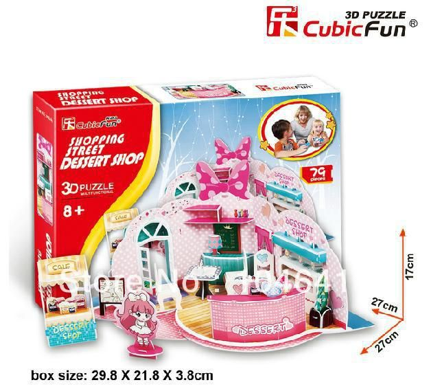 DESSERT SHOP CubicFun 3D educational puzzle Paper & EPS Model Papercraft Home Adornment for christmas gift #Affiliate