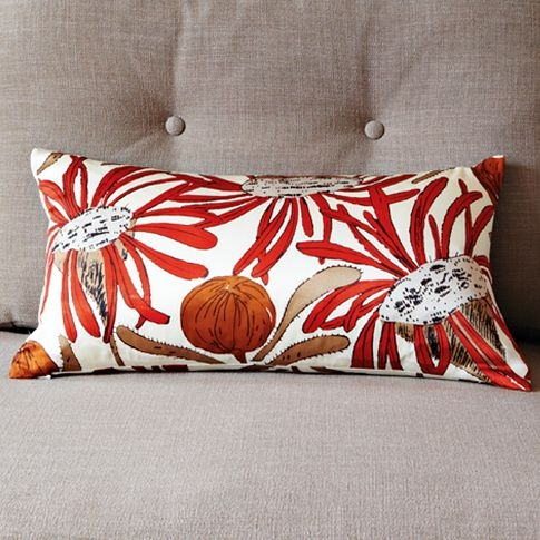 Gemma Orkin Protea Silk Pillow Cover | west elm