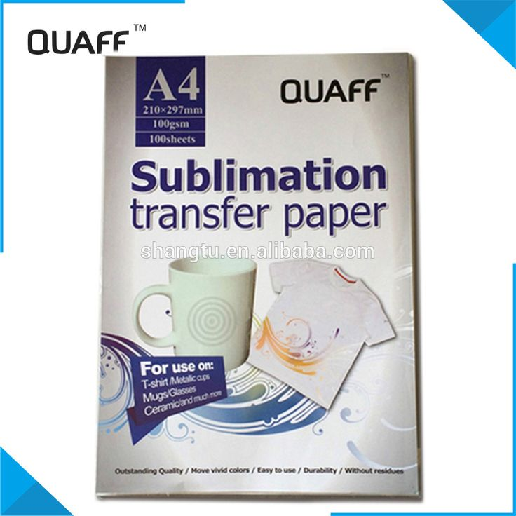 QUAFF brand Heat A4 Transfer Paper sublimation paper for heat transfer cups hats clothes