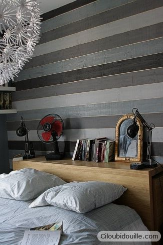 mur lambris cama eu de gris d cos pinterest d co. Black Bedroom Furniture Sets. Home Design Ideas