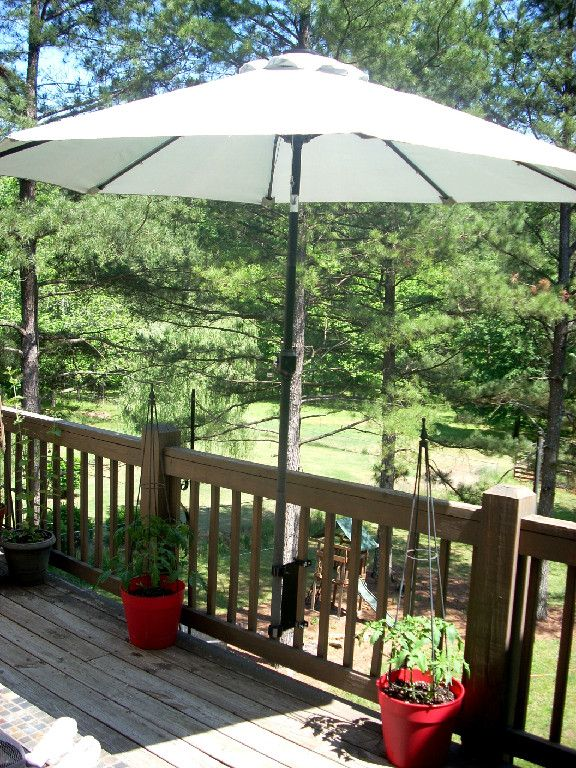Umbrella Mount For Deck For The Home Pinterest