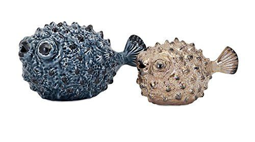 Prime Décor Collection Bubble Fish - Set of 2 4.75-5.5 inch h x 4.5-5.75 inch w x 7.5-10.25 inch