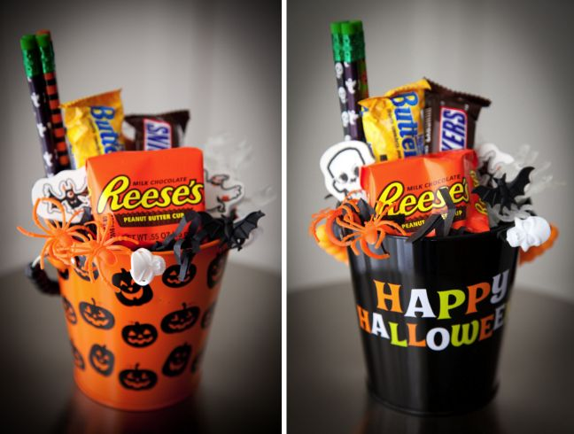 #Burtonandburton #frightfullyfun mini halloween gift baskets