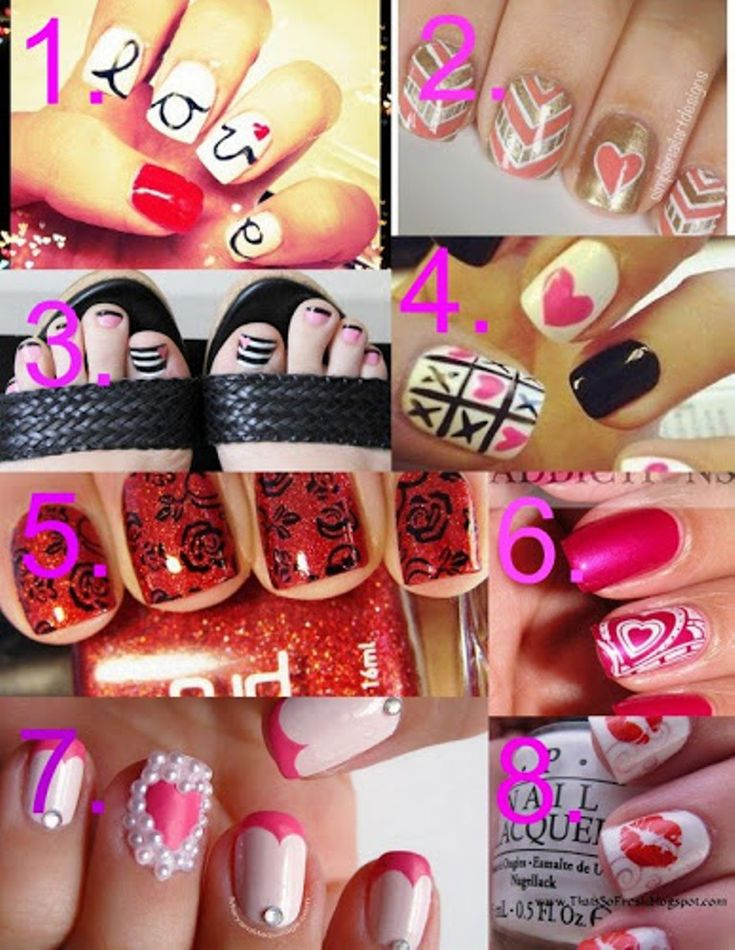 Mejores 56 imgenes de valentines day nails en pinterest uas valentines day nail ideas nail art ideas for valentines day eat and sip in solutioingenieria Images