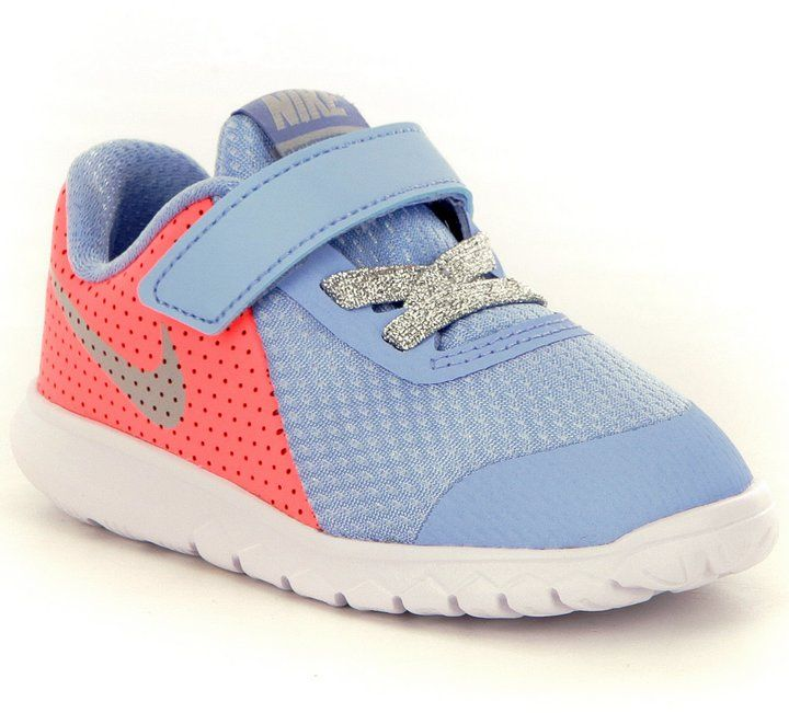 Nike Girls' Flex Experience 5 Mesh & Leather Running Shoes