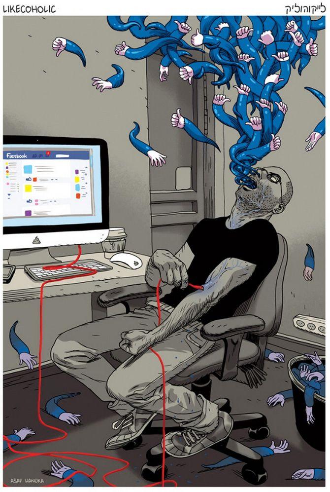 O ilustrador e animador Asaf Hanuka, de Tel Aviv, Israel, usa poderosas ilustrações para passar mensagens profundas sobre os seres humanos.