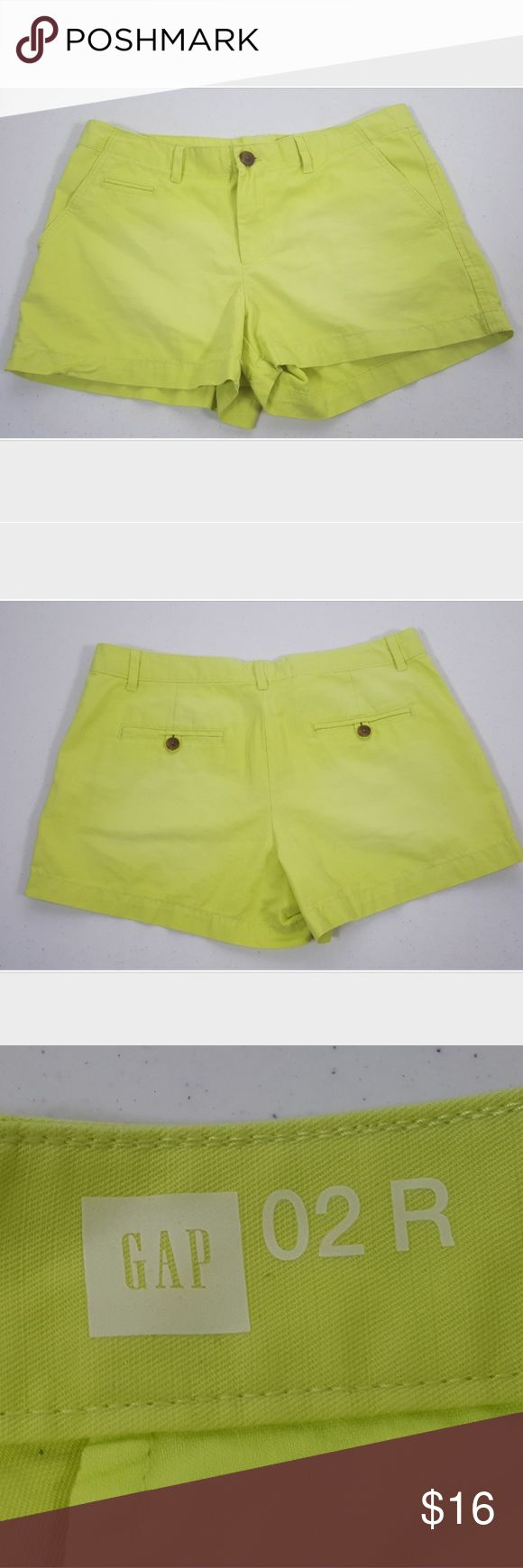 "Gap Lime Green Faded Look Shorts Women's Size 26 (2) Gap Lime Green Shorts. The shorts are in great preowned condition. No stains or tears. Shorts have a ""faded"" look on the front and rear. Gap Shorts"