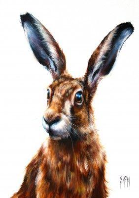 Herbert - Hare by Scottish Contemporary Artist Georgina McMASTER