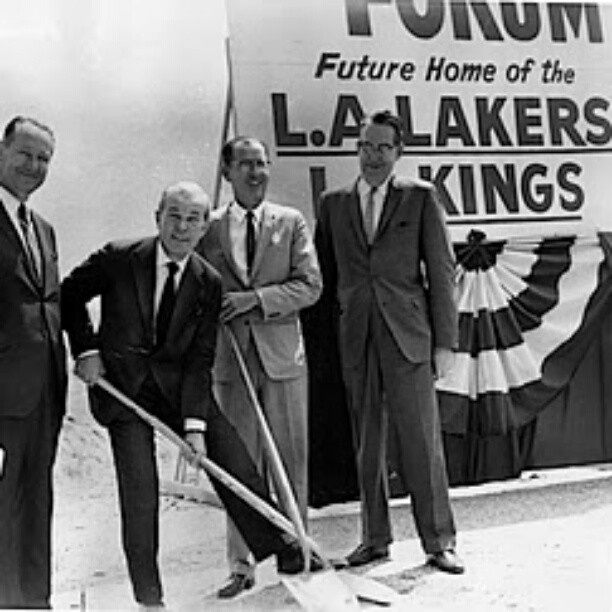 #ThrowbackThursday in honor of the #LAKings & #LAKERS features former owner Jack Kent Cooke at the groundbreaking of the Fabulous Forum in #Inglewood circa 1965! #NHL #NBA #TBT #ThrowbackThursdays #LosAngeles #IceHockey #Basketball #Oldie #History #igersla #CA #1960s #Picoftheday #Bestoftheday #Photooftheday #Pictureoftheday - @Angela Garcia #webstagram