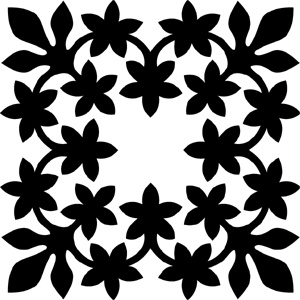 Hawaiian Quilt Tile 45 : HaoleKid
