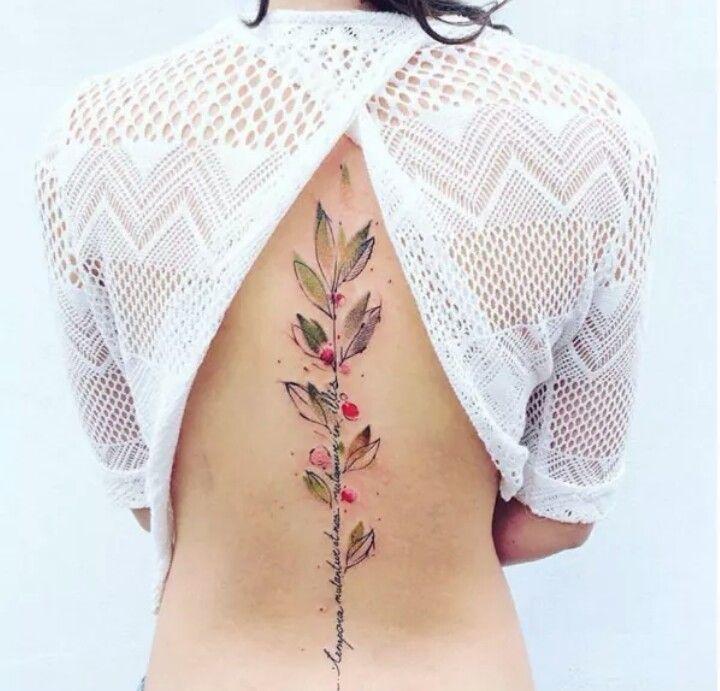 Text tattoo flower