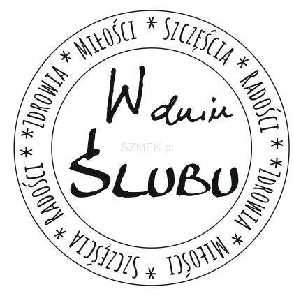 """Stempel gumowy """"W dniu ślubu koło"""" 83 Scrapbooking sklep SZMEK.pl Stemple z NAPISAMI"""