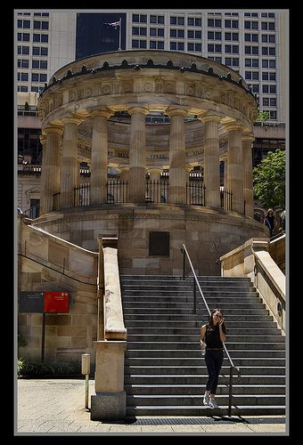 ANZAC Memorial Brisbane - I used to sit out in this courtyard and read or write in my journal when I was there