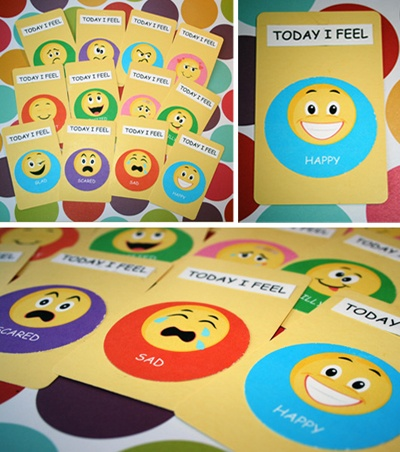 would these work for your kids for when they check in at the beginning of the day.  It might give them some incentive to use the chart if they are telling you their feelings... @Katie Hrubec English Martinez    I might try it too...