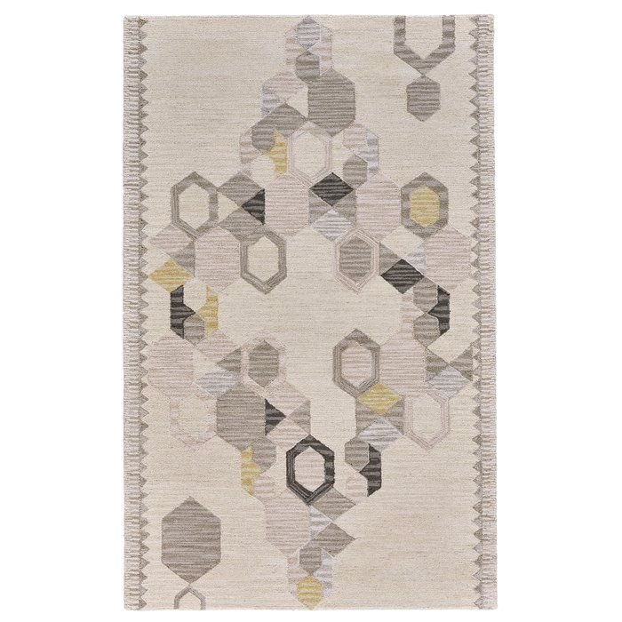 Willowick Hand-Tufted Ivory/Yellow Area Rug