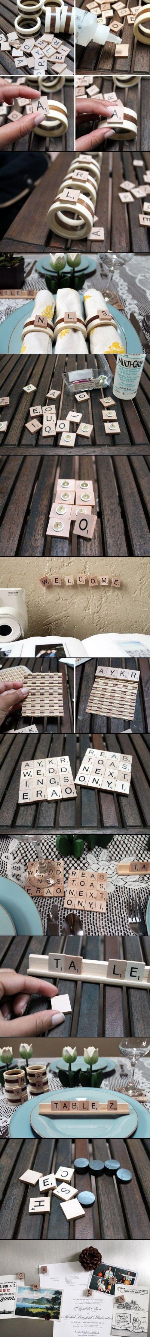 DIY Crafts Of Scrabble