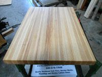 Enlarge Prefinished Ash Butcher Block Countertop Picture