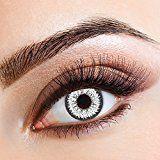 aricona Farblinsen  Natürliche farbige Kontaktlinse Diamond Fever Darkgray   – Jahreslinsen für helle Augenfarben, ohne Stärke, Farblinsen als Modeaccessoire für den täglichen Gebrauch