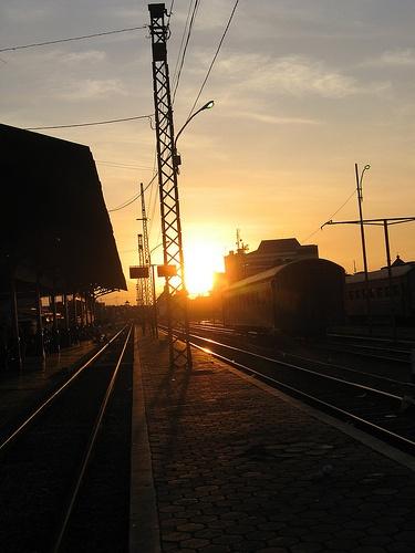 sunset di Stasiun Solo Jebres