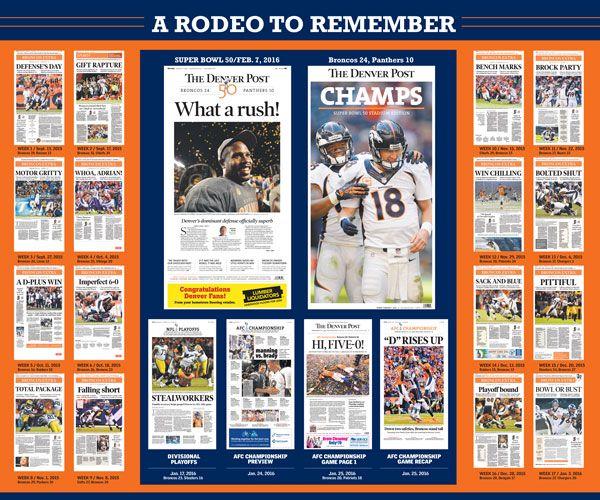 11 Best Denver Broncos Super Bowl 50 Champions Posters