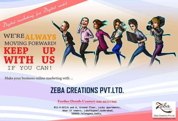 To #PROMOTE your #BUSINESS through #OUR services. http://www.zebacreations.com