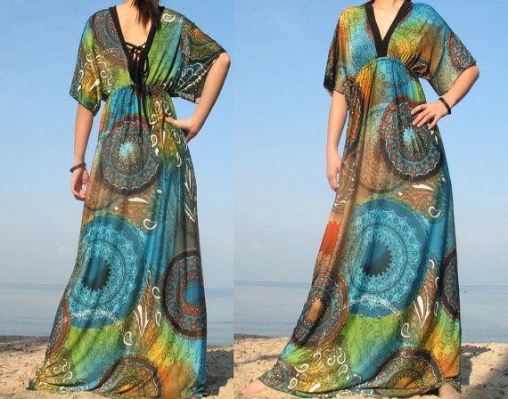 Moon Collection Long Dress Maxi Dress Women Deep V by myuniverse, $45.00