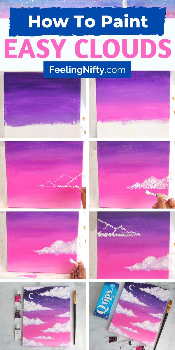How To Paint Clouds With Acrylic Paint the Easy Way