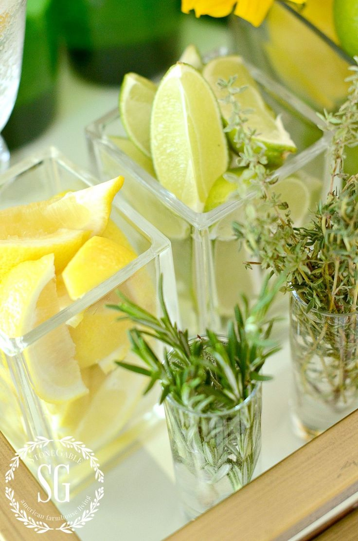FUN FABULOUS NON ALCOHOLIC BAR CART AND HERB CITRUS MOCKTAIL RECIPES