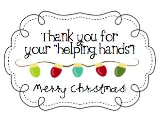 Parent Volunteer or Student Aide Christmas Gifts {attach a pair of winter gloves to this tag}