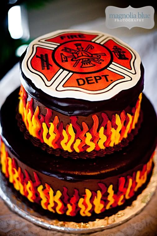 Firefighter Maltese Cross Grooms Cake Shared By Lion Cakes Picture