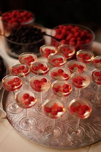 Raspberries in champagne | GENTILITY® www.gentility.co #gentility #luxurylifestyleexecutives #privatemembersclub #whenyouneedanotheryou #luxe #luxury #luxurious #luxurylife #lifeofluxury #luxuryliving #luxuriouslife #luxurylifestyle #firstclass #worldclass #sophisticated #sophistication #elite #emblem #elect #escape