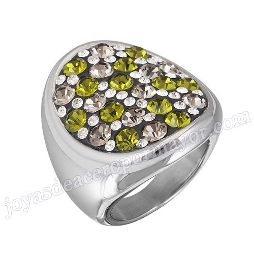 Material: Acero Inoxidable   Nombre:Joyería del anillo de boda baratos de acero de Lider Moda   Model No.:SSRG195   Peso:17.8G