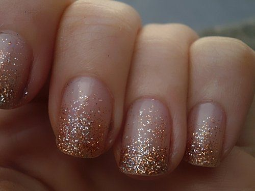 Glitter gradient nails                                                                                                                                                      More