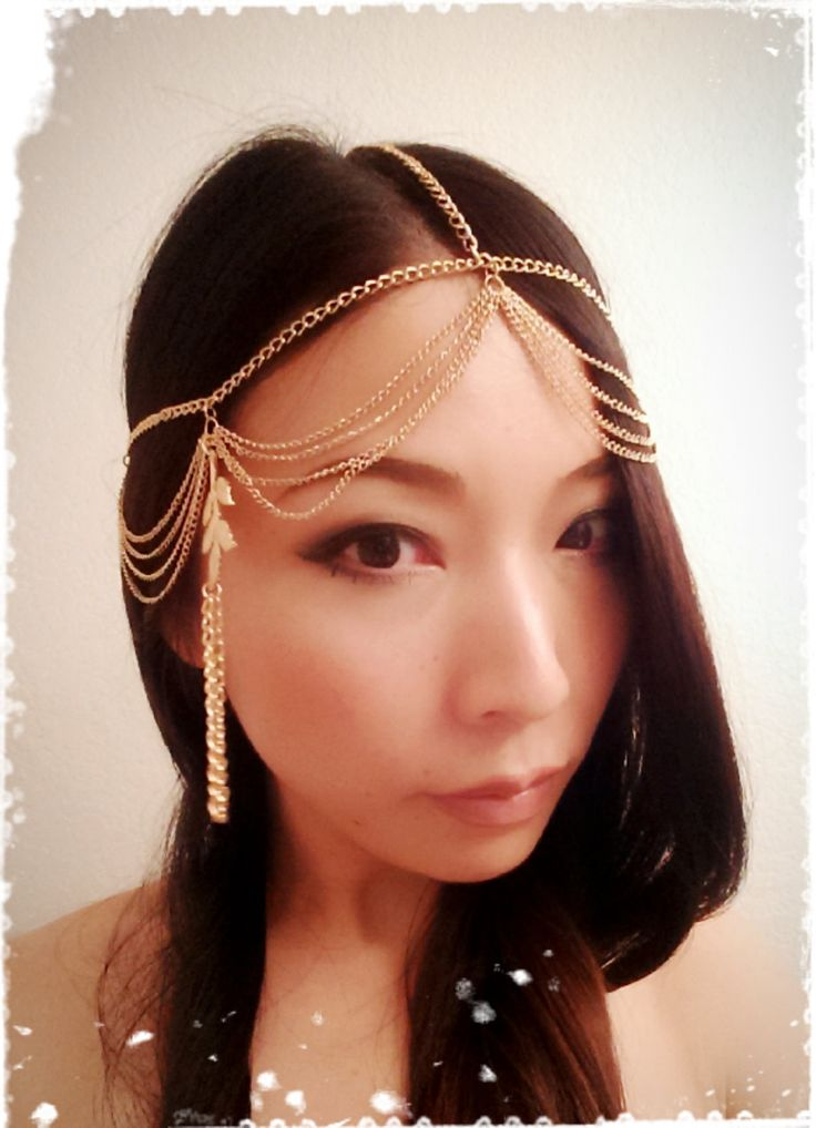 Gold Chain Forehead Cross Arabian by CandiedCherrybyKC on Etsy, $42.00