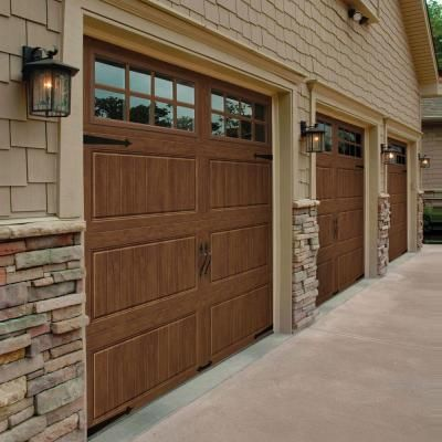 Clopay Gallery Collection 8 ft. x 7 ft. 18.4 R-Value Intellicore Insulated Ultra-Grain Medium Garage Door with SQ24 Window - GR2LU_MO_SQ24 - The Home Depot