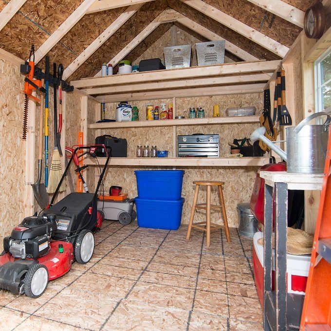Elegant 8 X 12 Wood Shed Wood Storage Sheds Shed Storage Storage Shed Organization