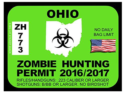 17 best images about zombie hunting permits on pinterest for Ohio fishing license online