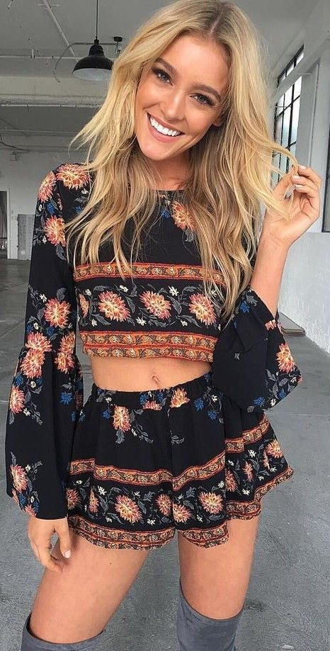#summer #tigermist #outfits |  Festival Print Two Piece Set